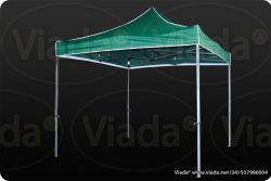 CARPA 3X3m GAMA PRO4 COLOR VERDE (Alu. 40mm diam)