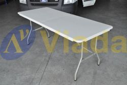 Mesa plegable rectangular tipo maleta